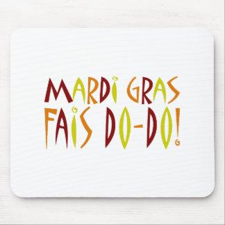 謝肉祭- Faisのドードー! (赤、黄色い及びオレンジ) マウスパッド