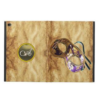 謝肉祭MASQUERADの瑪瑙のモノグラムの羊皮紙 POWIS iPad AIR 2 ケース