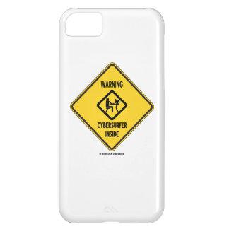 警告しますCybersurferの内部(印)を iPhone5Cケース