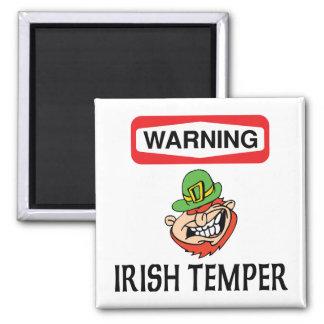 警告のアイルランド人の気性 マグネット
