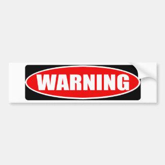 警告の交通標識 バンパーステッカー