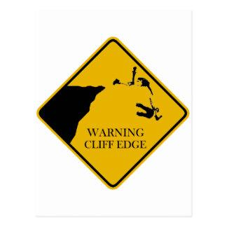 警告の崖の端 ポストカード