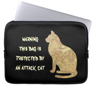 警告の攻撃猫のラップトップスリーブ ラップトップスリーブ