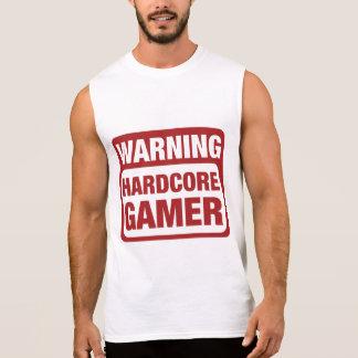 警告の本格的なゲーマー 袖なしシャツ