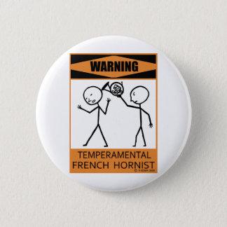 警告の気難しでフランスのなHornist 5.7cm 丸型バッジ