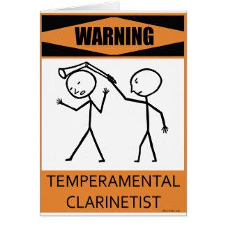 警告の気難しなクラリネット奏者 カード