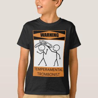 警告の気難しなトロンボーン奏者 Tシャツ