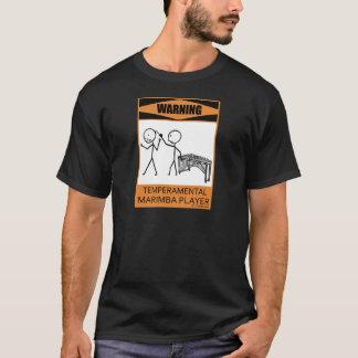 警告の気難しなマリンバプレーヤー Tシャツ