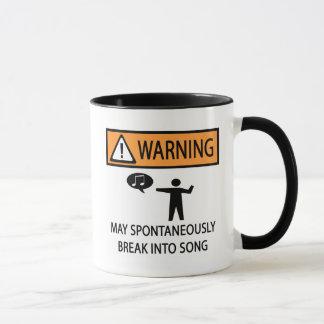 警告の自発の歌手 マグカップ