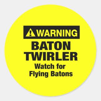 警告の飛んでいるなバトン ラウンドシール