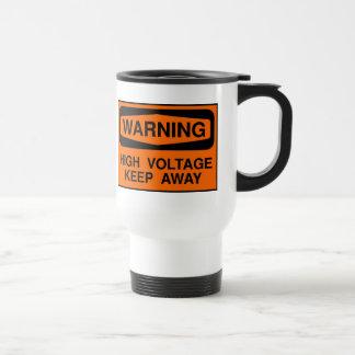 警告の高圧 トラベルマグ