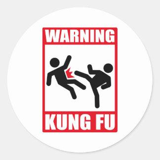 警告のkungのfu ラウンドシール
