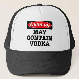 警告はウォッカを含むかもしれません キャップ
