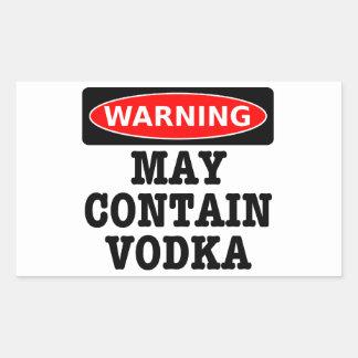 警告はウォッカを含むかもしれません 長方形シール