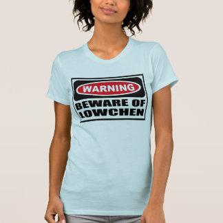警告はLOWCHENの女性のTシャツの用心します Tシャツ
