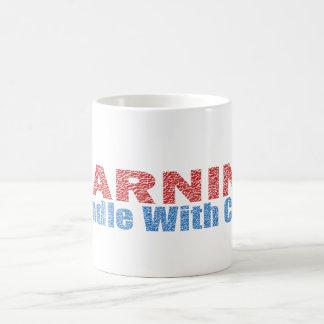 警告文字デザインな心配と扱って下さい コーヒーマグカップ