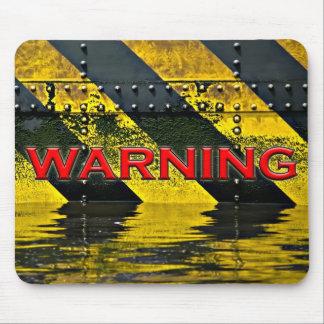 警告標識のマウスパッド マウスパッド