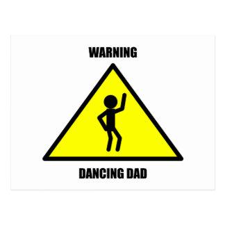 警告標識: 踊りのパパ ポストカード