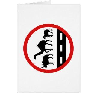 警告牛、ラクダ及びヒツジの印、モーリタニア カード