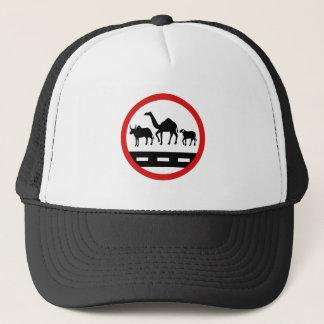 警告牛、ラクダ及びヒツジの印、モーリタニア キャップ