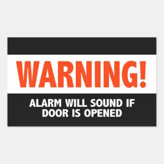 警告警報はドアが開けば鳴ります 長方形シール