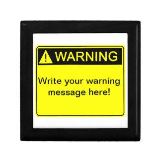 警告! -あなたのカスタムな警告表示を作成して下さい! ギフトボックス