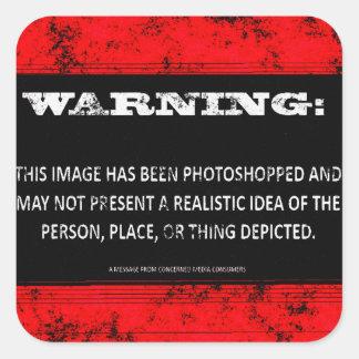 警告: このイメージはずっとPhotoshoppedです スクエアシール