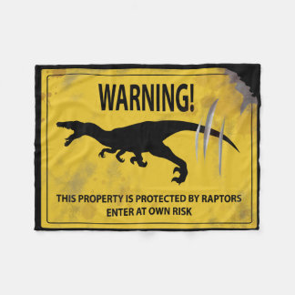 警告! この特性は猛禽によって保護されます フリースブランケット