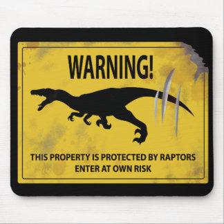 警告! この特性は猛禽によって保護されます マウスパッド