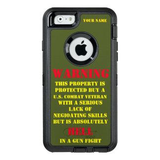 警告: この特性は退役軍人によって保護されます オッターボックスディフェンダーiPhoneケース