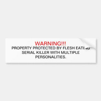 警告 バンパーステッカー