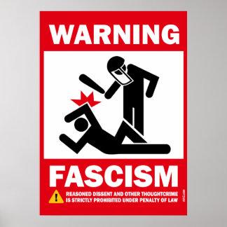 警告: ファシズム ポスター