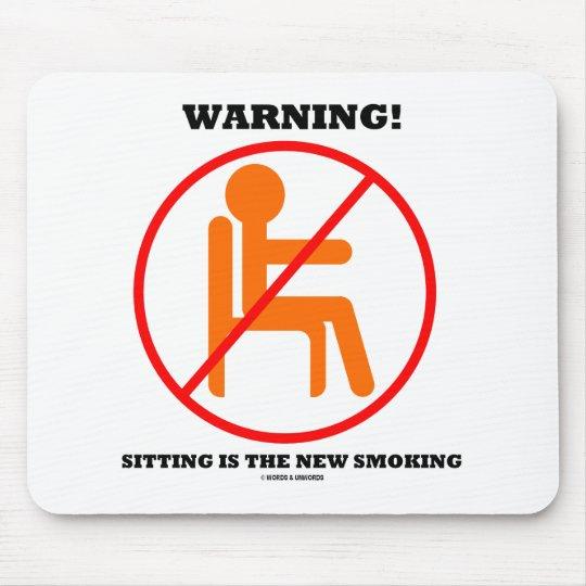 警告! モデルは新しい喫煙の交差の印です マウスパッド