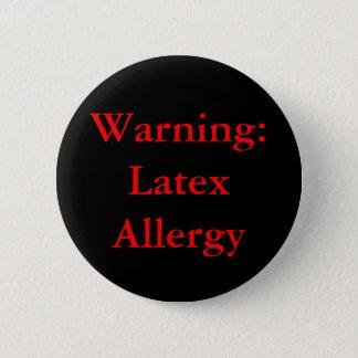 警告: 乳液のアレルギーボタン 缶バッジ