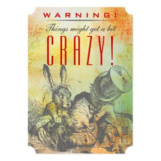警告! 事はビットを熱狂する得るかもしれません! 帽子屋 カード
