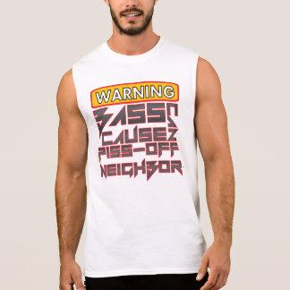 警告: 低音により小便の隣人を引き起こすことができます 袖なしシャツ