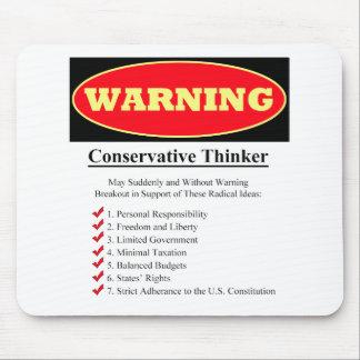 警告: 保守的な思想家 マウスパッド