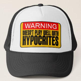 警告: 偽善者とよく遊びません キャップ