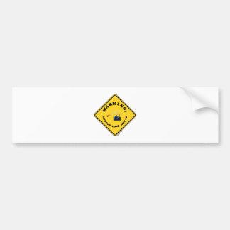 警告! 前方の流星の地帯(ダイヤモンドの黄色い印) バンパーステッカー