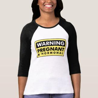 警告: 妊娠した及びホルモン性 Tシャツ
