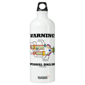 警告! 感情的なDNAの内部(DNAの写し) ウォーターボトル