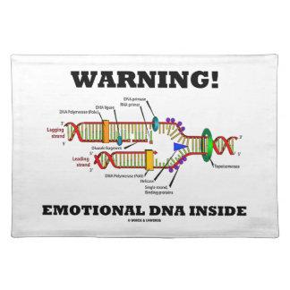 警告! 感情的なDNAの内部(DNAの写し) ランチョンマット