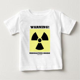 警告! 放射性内部(放射の印) ベビーTシャツ