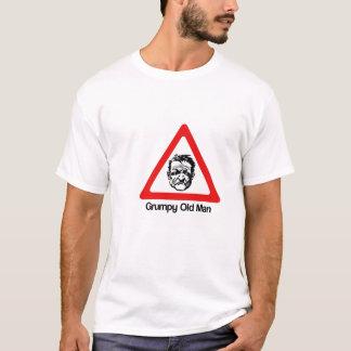 警告: 気難しい老人 Tシャツ