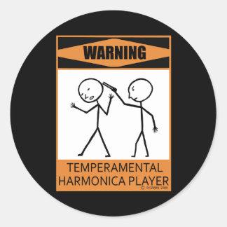 警告! 気難しなハーモニカプレーヤー ラウンドシール