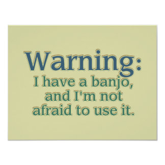 警告: 私にありますバンジョーが…. カード