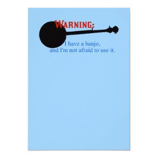 警告: 私にバンジョーが…あります カード