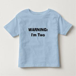 警告: 私は2才です トドラーTシャツ