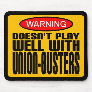 警告: 連合破壊者とよく遊びません マウスパッド