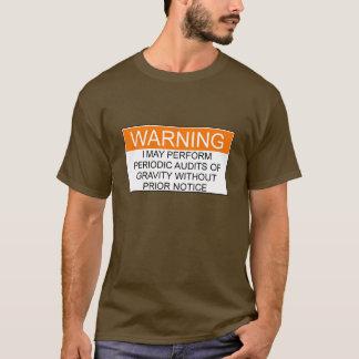 警告: 重力の監査-オレンジ及び白 Tシャツ